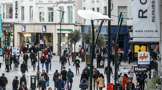 Dublin Retail Spending Descends Further in Q1 as Covid Restrictions Bite